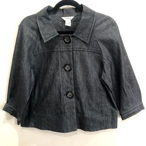 3/$25 Cambridge Dry Goods Dark Gray Cropped Jacket